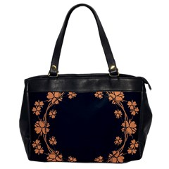 Floral Vintage Royal Frame Pattern Office Handbags by Celenk