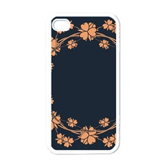 Floral Vintage Royal Frame Pattern Apple Iphone 4 Case (white) by Celenk
