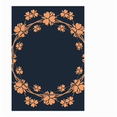 Floral Vintage Royal Frame Pattern Small Garden Flag (two Sides) by Celenk