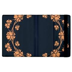 Floral Vintage Royal Frame Pattern Apple Ipad 2 Flip Case by Celenk