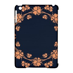 Floral Vintage Royal Frame Pattern Apple Ipad Mini Hardshell Case (compatible With Smart Cover) by Celenk