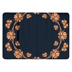Floral Vintage Royal Frame Pattern Samsung Galaxy Tab 8 9  P7300 Flip Case by Celenk