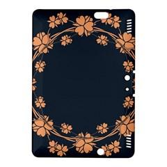 Floral Vintage Royal Frame Pattern Kindle Fire Hdx 8 9  Hardshell Case by Celenk