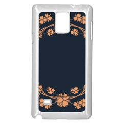 Floral Vintage Royal Frame Pattern Samsung Galaxy Note 4 Case (white)