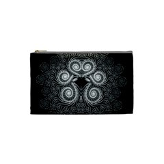 Fractal Filigree Lace Vintage Cosmetic Bag (small)  by Celenk