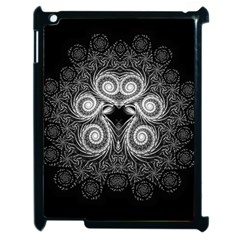 Fractal Filigree Lace Vintage Apple Ipad 2 Case (black) by Celenk