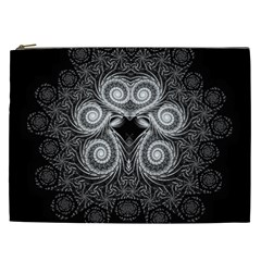 Fractal Filigree Lace Vintage Cosmetic Bag (xxl)  by Celenk