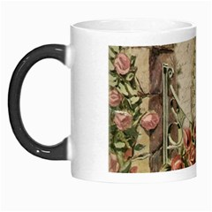 French Vintage Girl Roses Clock Morph Mugs by Celenk