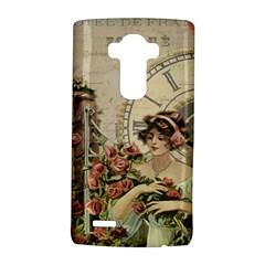 French Vintage Girl Roses Clock Lg G4 Hardshell Case by Celenk