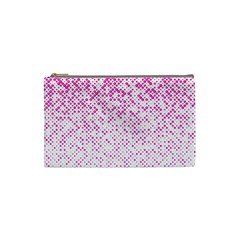 Halftone Dot Background Pattern Cosmetic Bag (small)  by Celenk