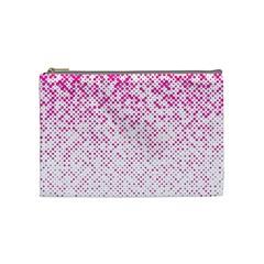 Halftone Dot Background Pattern Cosmetic Bag (medium)  by Celenk