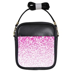 Halftone Dot Background Pattern Girls Sling Bags by Celenk