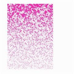 Halftone Dot Background Pattern Large Garden Flag (two Sides) by Celenk
