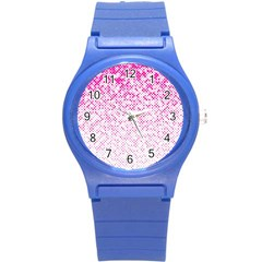 Halftone Dot Background Pattern Round Plastic Sport Watch (s) by Celenk