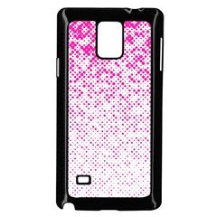 Halftone Dot Background Pattern Samsung Galaxy Note 4 Case (black) by Celenk