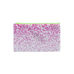 Halftone Dot Background Pattern Cosmetic Bag (xs) by Celenk