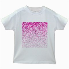 Halftone Dot Background Pattern Kids White T Shirts by Celenk