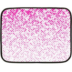 Halftone Dot Background Pattern Fleece Blanket (mini) by Celenk