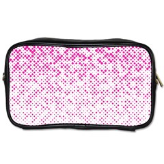 Halftone Dot Background Pattern Toiletries Bags 2 Side by Celenk