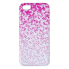 Halftone Dot Background Pattern Iphone 5s/ Se Premium Hardshell Case by Celenk