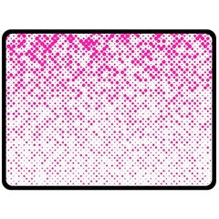Halftone Dot Background Pattern Double Sided Fleece Blanket (large)  by Celenk