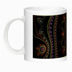 Fractal Vintage Colorful Decorative Night Luminous Mugs by Celenk