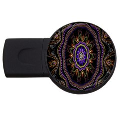 Fractal Vintage Colorful Decorative Usb Flash Drive Round (4 Gb)