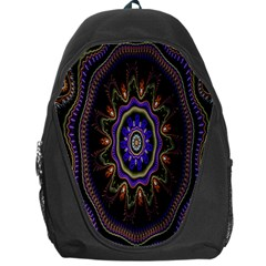 Fractal Vintage Colorful Decorative Backpack Bag by Celenk