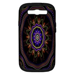 Fractal Vintage Colorful Decorative Samsung Galaxy S Iii Hardshell Case (pc+silicone) by Celenk