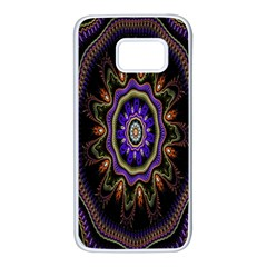 Fractal Vintage Colorful Decorative Samsung Galaxy S7 White Seamless Case