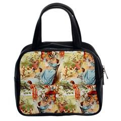 Seamless Vintage Design Classic Handbags (2 Sides) by Celenk