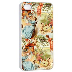 Seamless Vintage Design Apple Iphone 4/4s Seamless Case (white) by Celenk