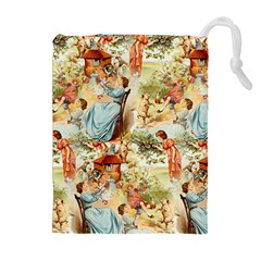 Seamless Vintage Design Drawstring Pouches (extra Large) by Celenk