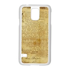 Vintage Background Paper Samsung Galaxy S5 Case (white) by Celenk