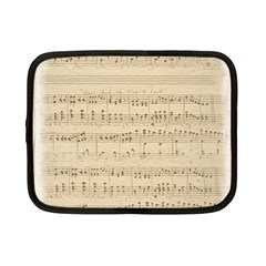 Vintage Beige Music Notes Netbook Case (small)  by Celenk