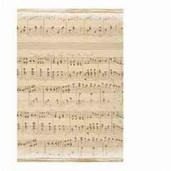 Vintage Beige Music Notes Small Garden Flag (two Sides) by Celenk