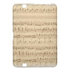 Vintage Beige Music Notes Kindle Fire Hd 8 9  by Celenk
