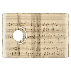 Vintage Beige Music Notes Kindle Fire Hdx Flip 360 Case by Celenk