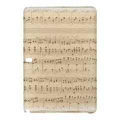 Vintage Beige Music Notes Samsung Galaxy Tab Pro 10 1 Hardshell Case by Celenk