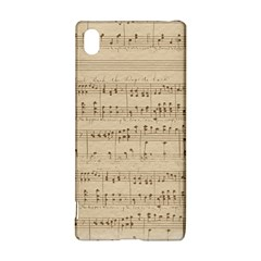 Vintage Beige Music Notes Sony Xperia Z3+ by Celenk
