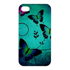 Texture Butterflies Background Apple Iphone 4/4s Hardshell Case by Celenk