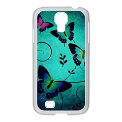 Texture Butterflies Background Samsung Galaxy S4 I9500/ I9505 Case (white) by Celenk