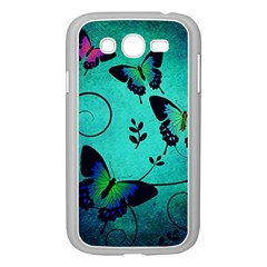 Texture Butterflies Background Samsung Galaxy Grand Duos I9082 Case (white) by Celenk