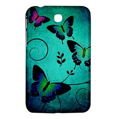 Texture Butterflies Background Samsung Galaxy Tab 3 (7 ) P3200 Hardshell Case  by Celenk