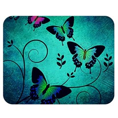 Texture Butterflies Background Double Sided Flano Blanket (medium)  by Celenk