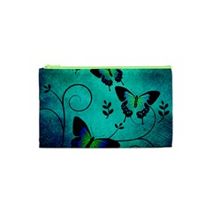 Texture Butterflies Background Cosmetic Bag (xs) by Celenk