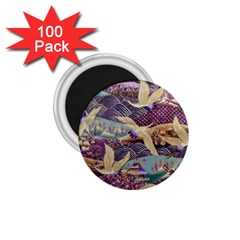 Textile Fabric Cloth Pattern 1 75  Magnets (100 Pack)  by Celenk