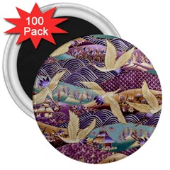 Textile Fabric Cloth Pattern 3  Magnets (100 Pack) by Celenk
