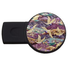 Textile Fabric Cloth Pattern Usb Flash Drive Round (4 Gb) by Celenk