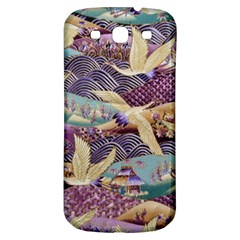 Textile Fabric Cloth Pattern Samsung Galaxy S3 S Iii Classic Hardshell Back Case by Celenk